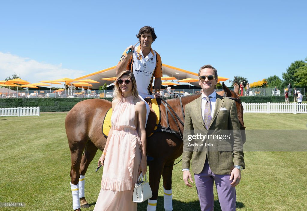 Co-host Delfina Blaquier, co-Host Nacho Figueras and host and actor Neil Patrick Harris attend The Tenth Annual Veuve Clicquot Polo Classic at Liberty State Park on June 3, 2017 in Jersey City, New Jersey.
