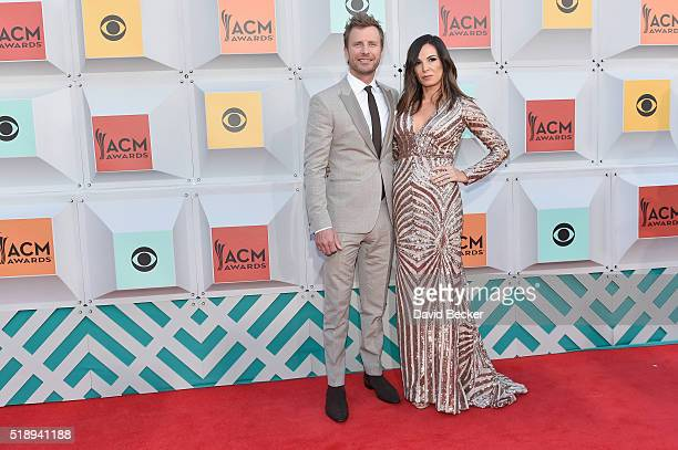 Cohost Dierks Bentley and Cassidy Black attend the 51st Academy of Country Music Awards at MGM Grand Garden Arena on April 3 2016 in Las Vegas Nevada
