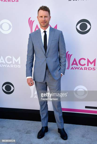 Cohost Dierks Bentley attends the 52nd Academy Of Country Music Awards at Toshiba Plaza on April 2 2017 in Las Vegas Nevada