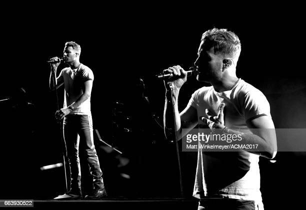 Cohost Dierks Bentley performs onstage during the 52nd Academy Of Country Music Awards at TMobile Arena on April 2 2017 in Las Vegas Nevada