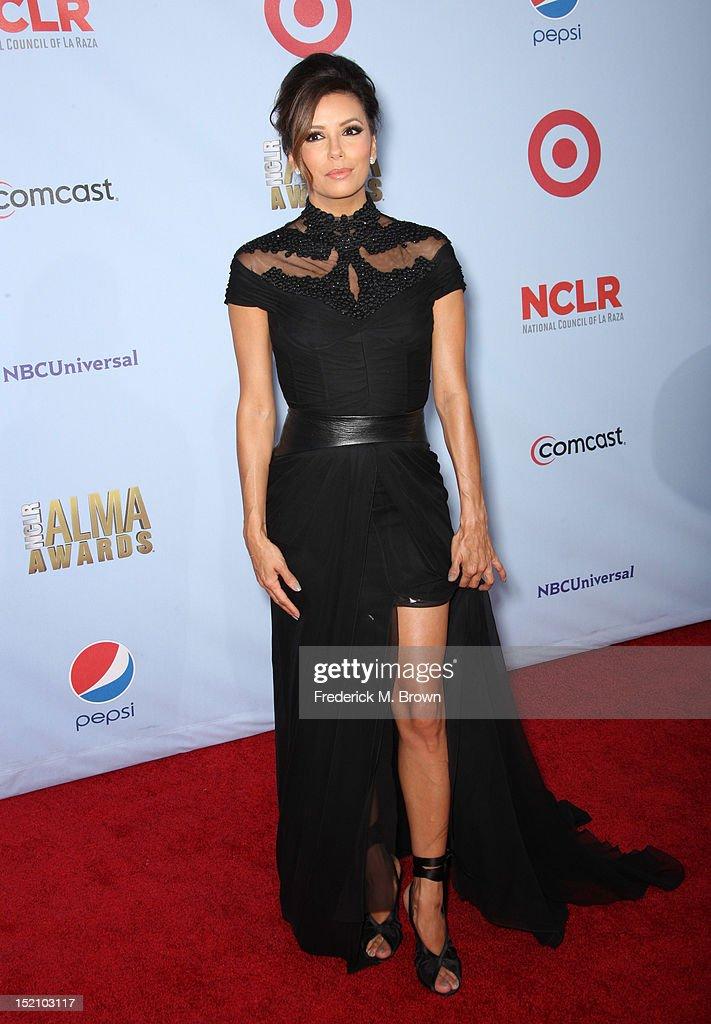 Co-Host Eva Longoria arrives at the 2012 NCLR ALMA Awards at Pasadena Civic Auditorium on September 16, 2012 in Pasadena, California.