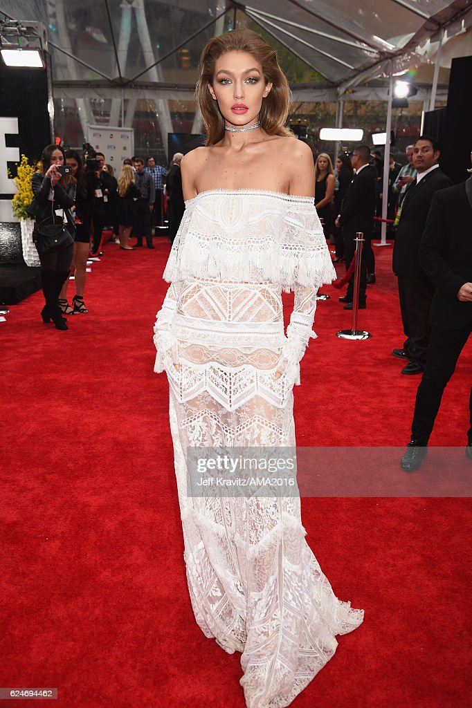 Co-host Gigi Hadid attends the 2016 American Music Awards at Microsoft Theater on November 20, 2016 in Los Angeles, California.