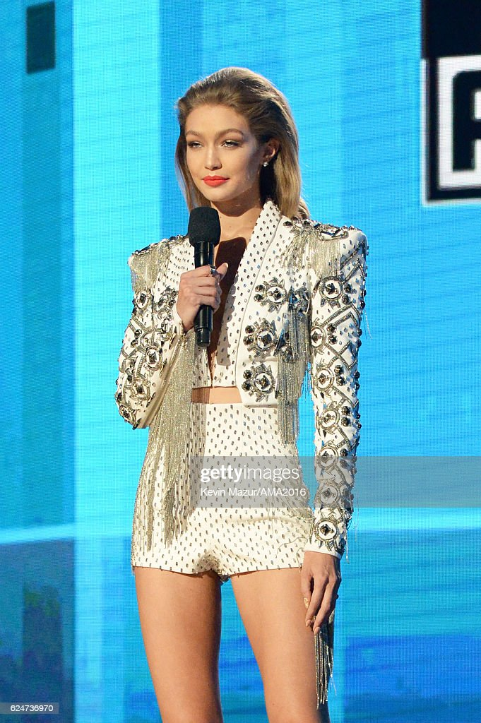cohost-gigi-hadid-speaks-onstage-at-the-2016-american-music-awards-at-picture-id624736970