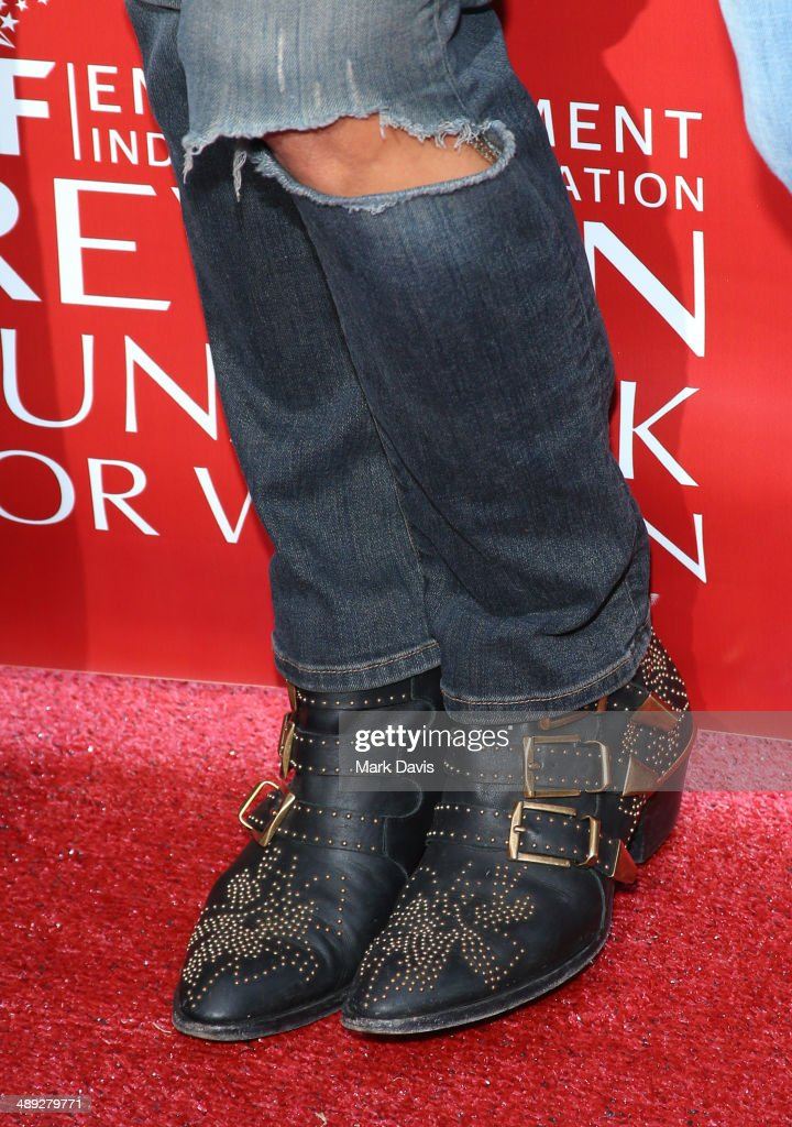 Co-Host Halle Berry (shoe detail) attends the 21st Annual EIF Revlon Run Walk For Women at Los Angeles Memorial Coliseum on May 10, 2014 in Los Angeles, California.