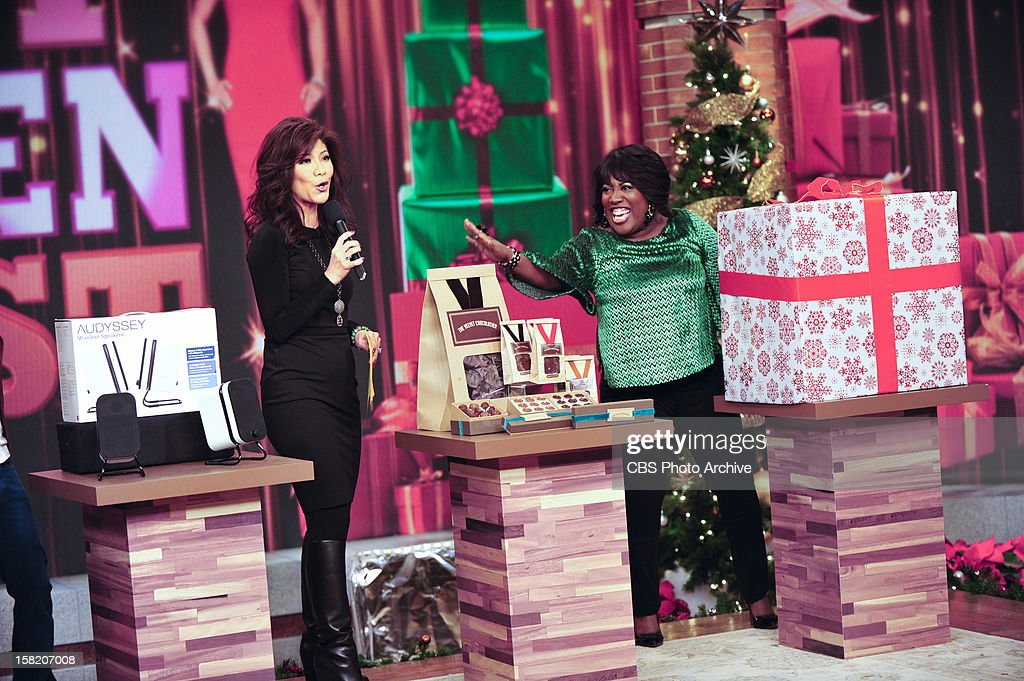 "Co-host Julie Chen presents her annual ""Top Chen List"" of holiday gift items on THE TALK to kick of the special week of holiday shows broadcasting from New York City, Monday, December 10, 2012 on the CBS Television Network. Julie Chen, left, and Sheryl Underwood, shown."
