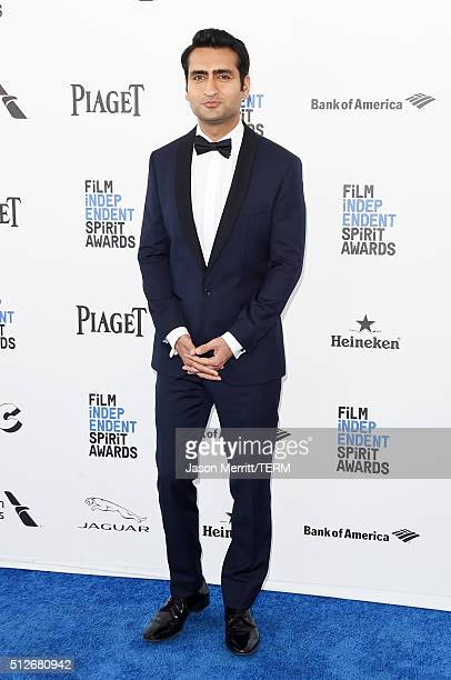 Cohost Kumail Nanjiani attends the 2016 Film Independent Spirit Awards on February 27 2016 in Santa Monica California