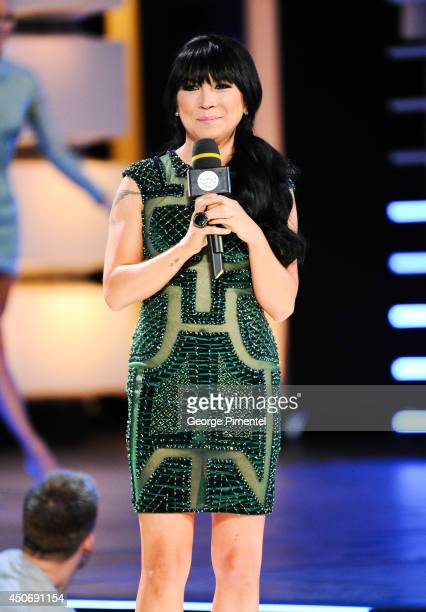 MMVA cohost Lauren Toyota at the 2014 Much Music Video Awards at Much HQ on June 15 2014 in Toronto Canada