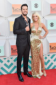 Cohost Luke Bryan and Caroline Boyer attend the 51st Academy of Country Music Awards at MGM Grand Garden Arena on April 3 2016 in Las Vegas Nevada