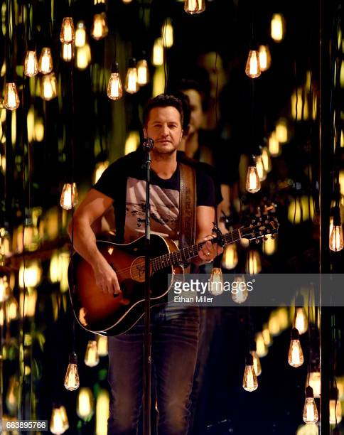 Cohost Luke Bryan performs onstage during the 52nd Academy of Country Music Awards at TMobile Arena on April 2 2017 in Las Vegas Nevada