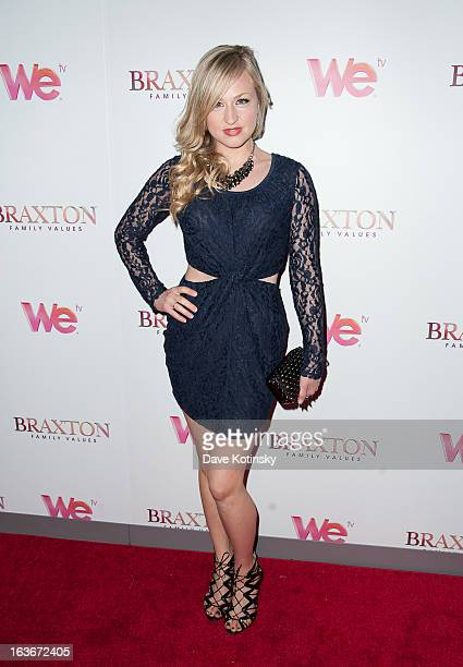 Cohost of Elvis Duran the Z100 Morning Show Bethany Watson attends the 'Braxton Family Values' Season Three premiere party at STK Rooftop on March 13...