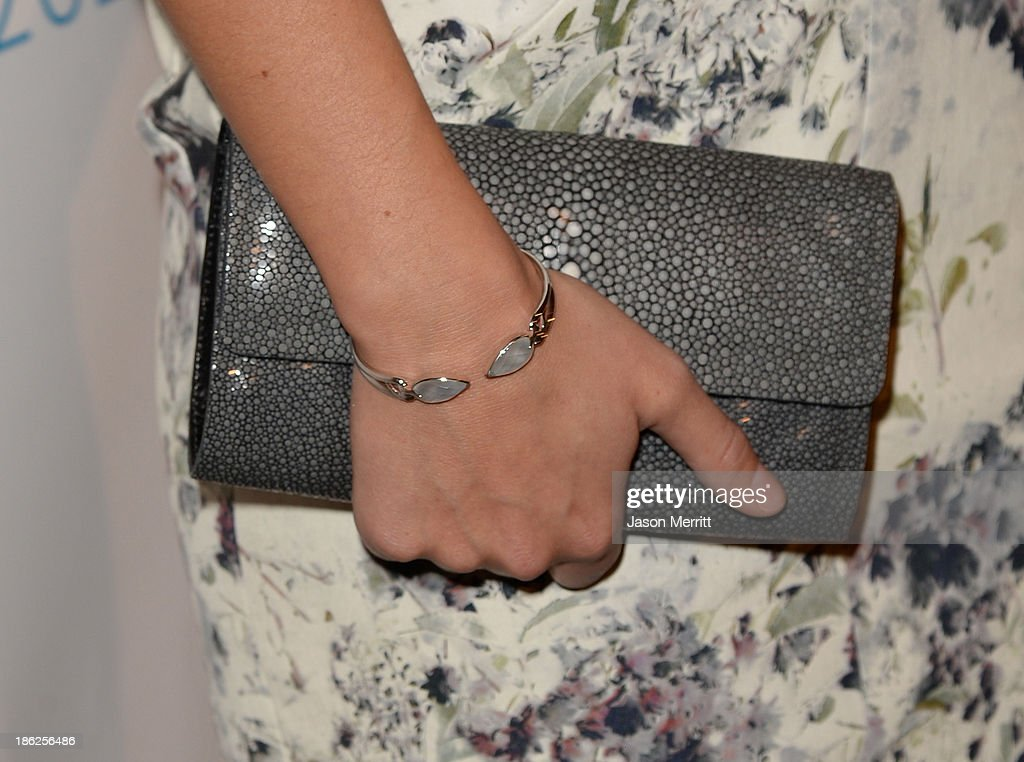 Co-host Olivia Wilde (handbag detail) attends the International Women's Media Foundation's 2013 Courage in Journalism Awards at the Beverly Hills Hotel on October 29, 2013 in Beverly Hills, California.