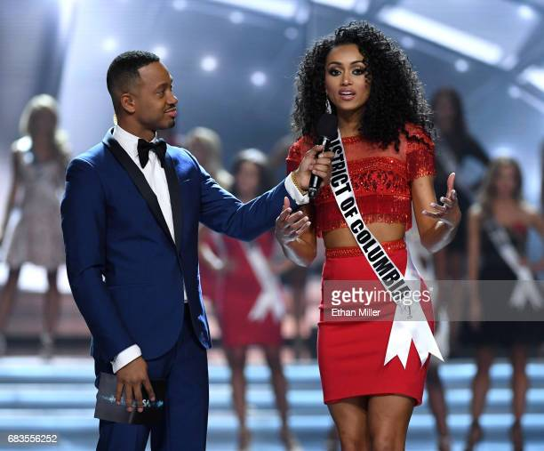 Cohost Terrence J talks with Miss District of Columbia USA 2017 Kara McCullough after she was named a top 10 finalist during the 2017 Miss USA...