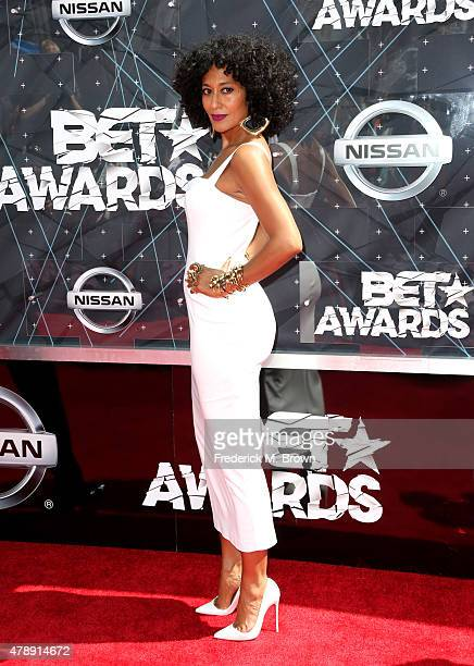 Cohost Tracee Ellis Ross attends the 2015 BET Awards at the Microsoft Theater on June 28 2015 in Los Angeles California