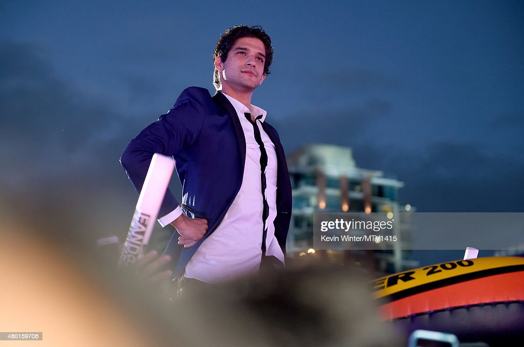 Cohost/actor Tyler Posey in the audience during the MTV Fandom Fest San Diego ComicCon at PETCO Park on July 9 2015 in San Diego California
