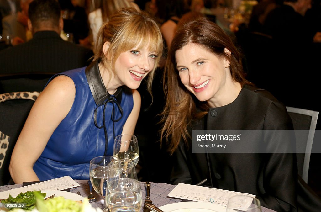 CoHosts Judy Greer and Kathryn Hahn attend the Zimmer Children's Museum Discovery Award Dinner at The Globe Theatre on November 12 2015 in Universal...