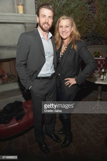 Cohosts Krista Smith and Chris Evans attend Vanity Fair and FIAT celebration of 'Young Hollywood' during Vanity Fair Campaign Hollywood at No Vacancy...