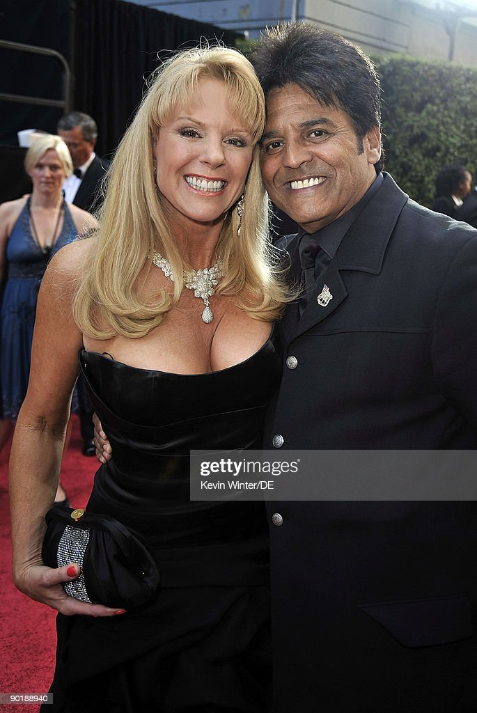 Co-hosts Laura McKenzie (L) and Erik Estrada arrive at the 36th Annual Daytime Emmy Awards at The Orpheum Theatre on August 30, 2009 in Los Angeles, California.