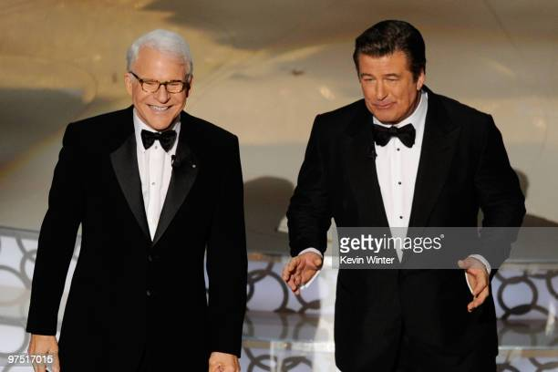 Cohosts Steve Martin and Alec Baldwin onstage during the 82nd Annual Academy Awards held at Kodak Theatre on March 7 2010 in Hollywood California