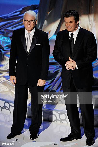 Cohosts Steve Martin and Alec Baldwin speak onstage during the 82nd Annual Academy Awards held at Kodak Theatre on March 7 2010 in Hollywood...
