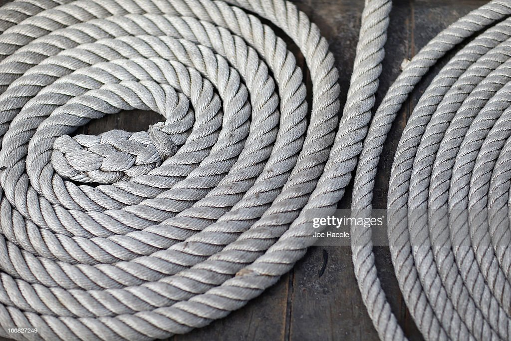 Coils of rope lie on the deck of El Galeón, a replica of a 16th century galleon, during Florida's commemoration of the 500th anniversary of Spanish explorer Juan Ponce de Leon's arrival on the shores of Florida on April 17, 2013 in Miami, Florida. The boat will remain in Miami until April 28, after which it continues North along Florida's east coast and stops along the way in Fort Lauderdale, Cape Canaveral, and St. Augustine.