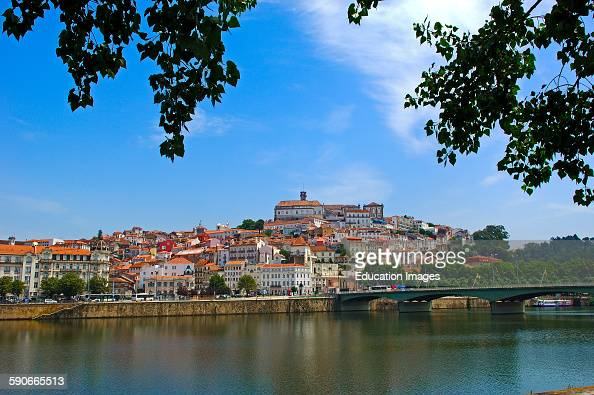 Coimbra Old town and Mondego river Beira Litoral Portugal Europe