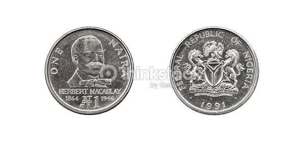 Coin 1 Naira Ngn Nigeria Stock Photo | Thinkstock