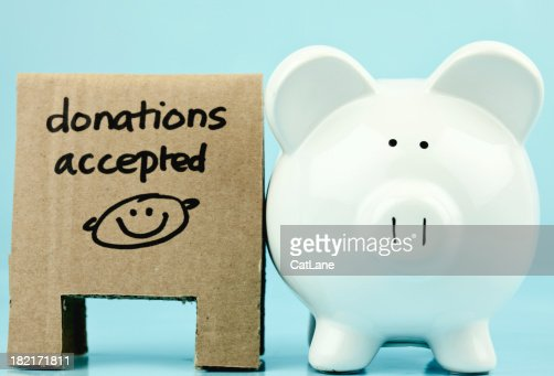 Coin Bank for Charity : Stock Photo