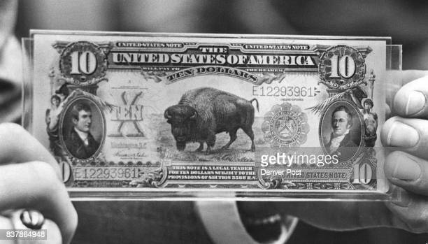 Coin collecting often leads to an interest in horse blanket' currency notes such as the 1 901 bison note at left Never folded never torn this...