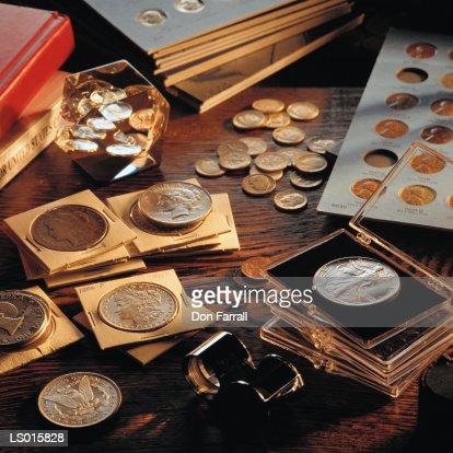 Coin Collection : Stock Photo