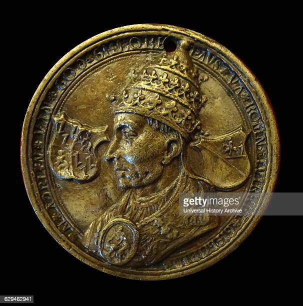 Coin depicting Pope Adrian VI Netherlandish Dated 16th Century