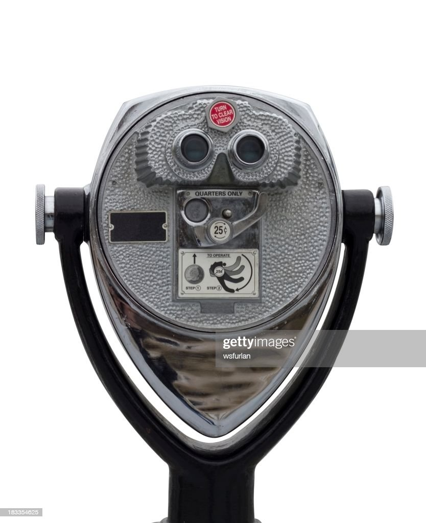 Coin operated binocular