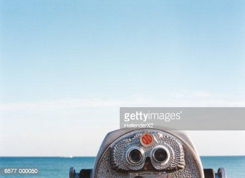 Coin Operated Binoculars : Stock Photo