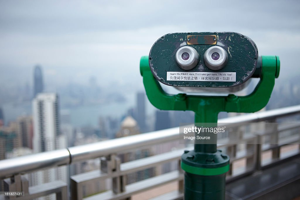Coin operated binoculars, the peak, hong kong, china