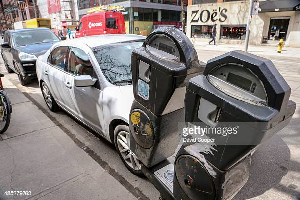 Coin operated parking meters are a dying breed in Toronto as they are replaced by Pay and Display machine Some remain in use however like these two...