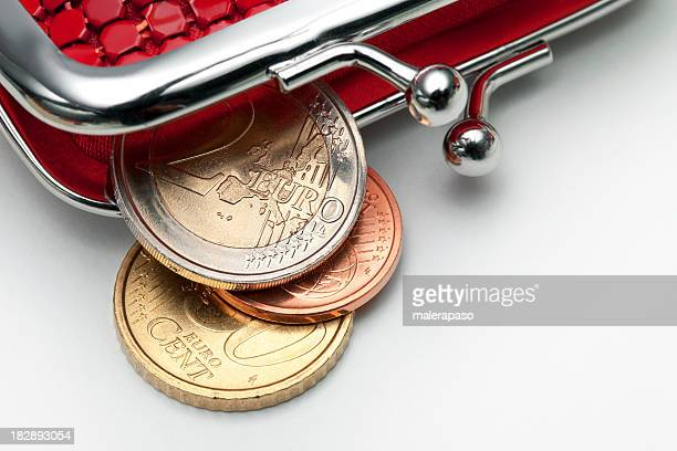 Portamonete con alcuni euro