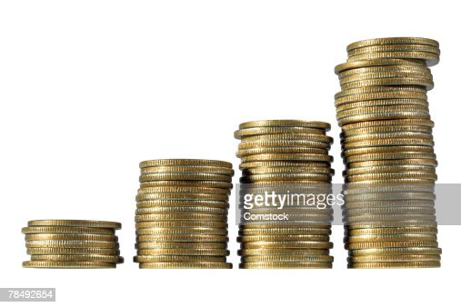 Coin stacks : Stock Photo