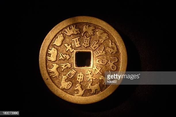 Monnaie avec du zodiaque chinois