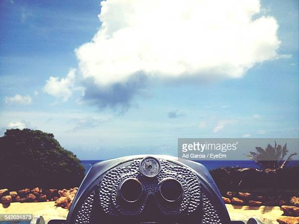Coin-Operated Binoculars And Cloud