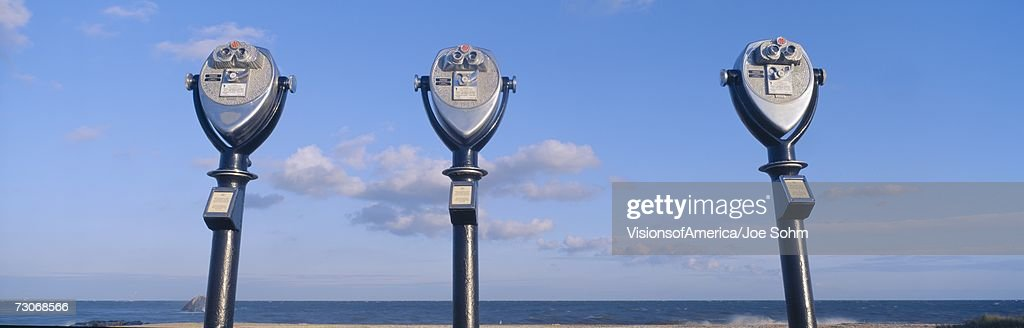 'Coin-operated viewing binoculars for tourists, Cape May, New Jersey'