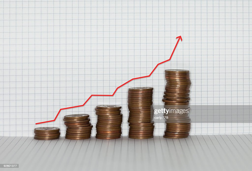 Coins of graph paper : Stock Photo