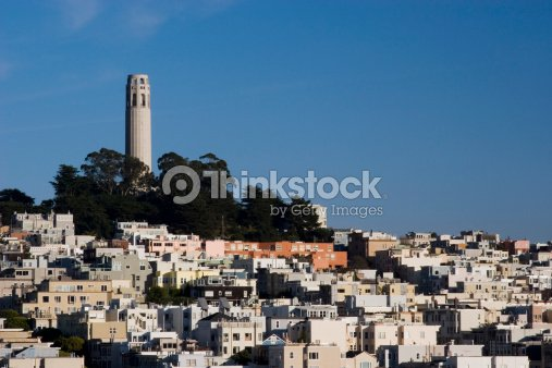Coit Tower and Telegraph Hill, San Francisco : Stock Photo