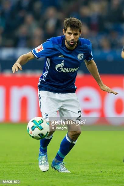 Coke of Schalke controls the ball during the Bundesliga match between FC Schalke 04 and 1 FSV Mainz 05 at VeltinsArena on October 20 2017 in...