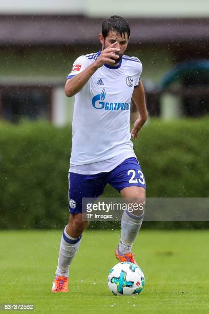 Coke of Schalke controls the ball during the preseason friendly match between FC Schalke 04 and Neftchi Baku on July 26 2017 in Neunkirchen Austria