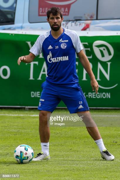 Coke of Schalke controls the ball during the Training Camp of FC Schalke 04 on July 27 2017 in Mittersill Austria