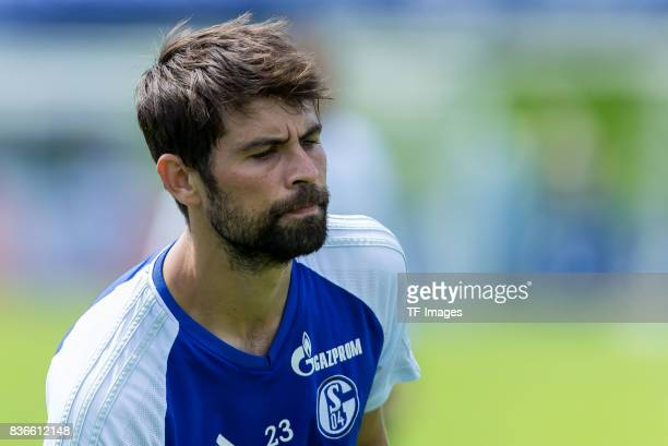 Coke of Schalke looks on during the Training Camp of FC Schalke 04 on July 29 2017 in Mittersill Austria