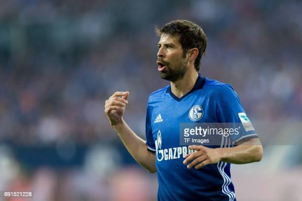 Coke of Schalke looks on during to the Bundesliga match between FC Schalke 04 and Hamburger SV at VeltinsArena on May 13 2017 in Gelsenkirchen Germany