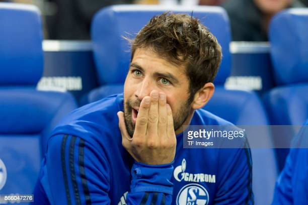 Coke of Schalke sits on the bench during the Bundesliga match between FC Schalke 04 and 1 FSV Mainz 05 at VeltinsArena on October 20 2017 in...