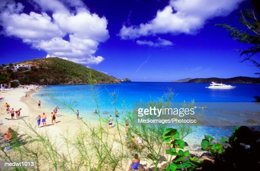 Coki Bay Beach in St. Thomas, U.S. Virgin Islands, Carribean