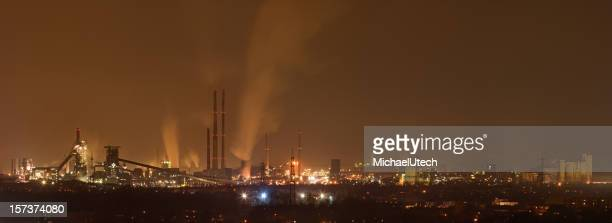 Coking & Steel Plant At Night