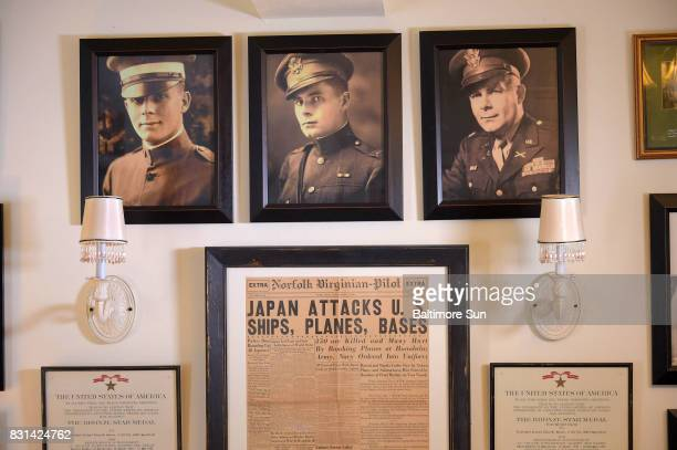 Col Arthur Lee Shreve Jr is shown in various photos on the wall of author Heather Shreve His granddaughter recently received a uniform from a...